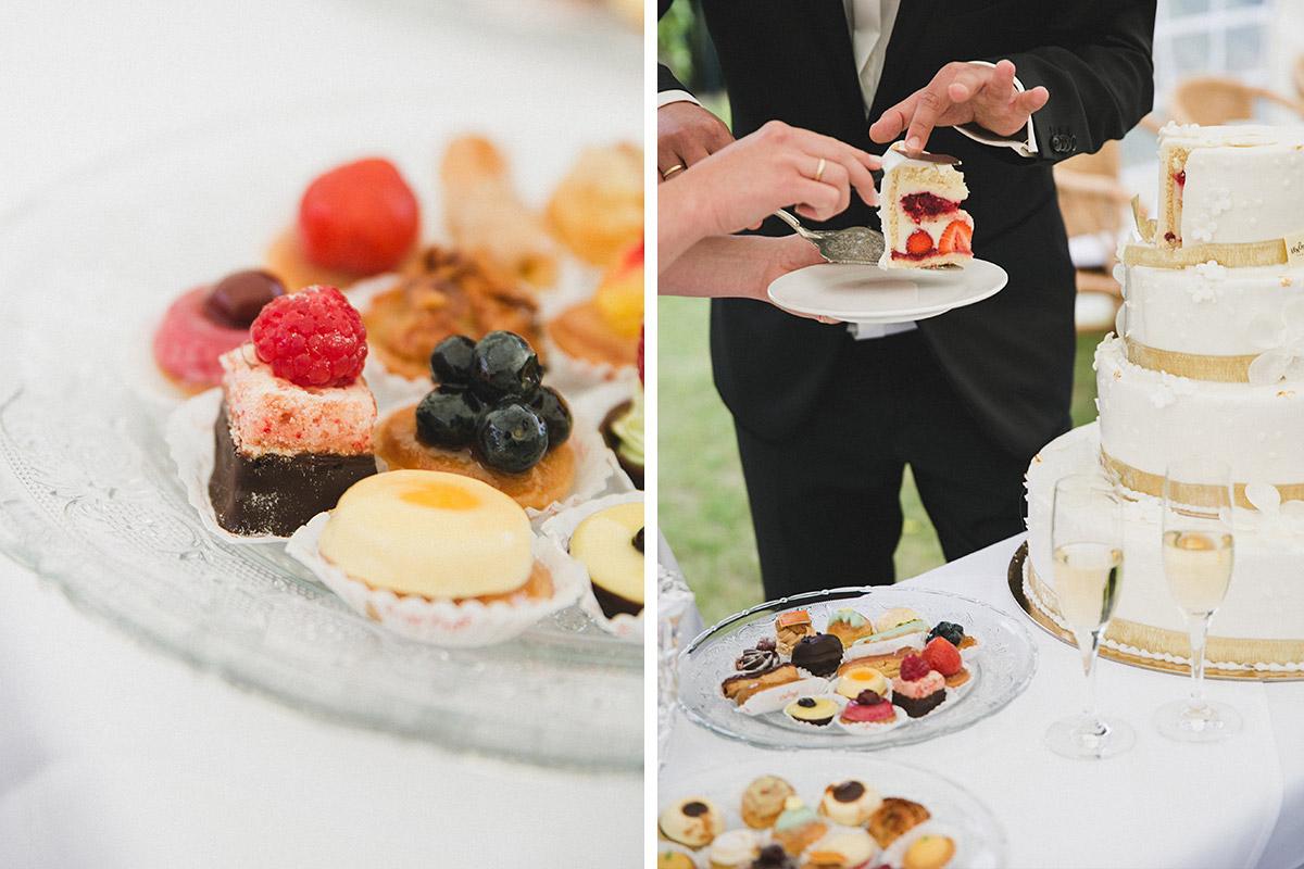 Hochzeitstorte Bei Sommerhochzeit Auf Schloss Herzfelde