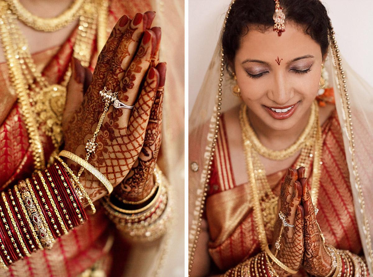 Hochzeitsfotos Von Indischer Braut Aufgenommen Von