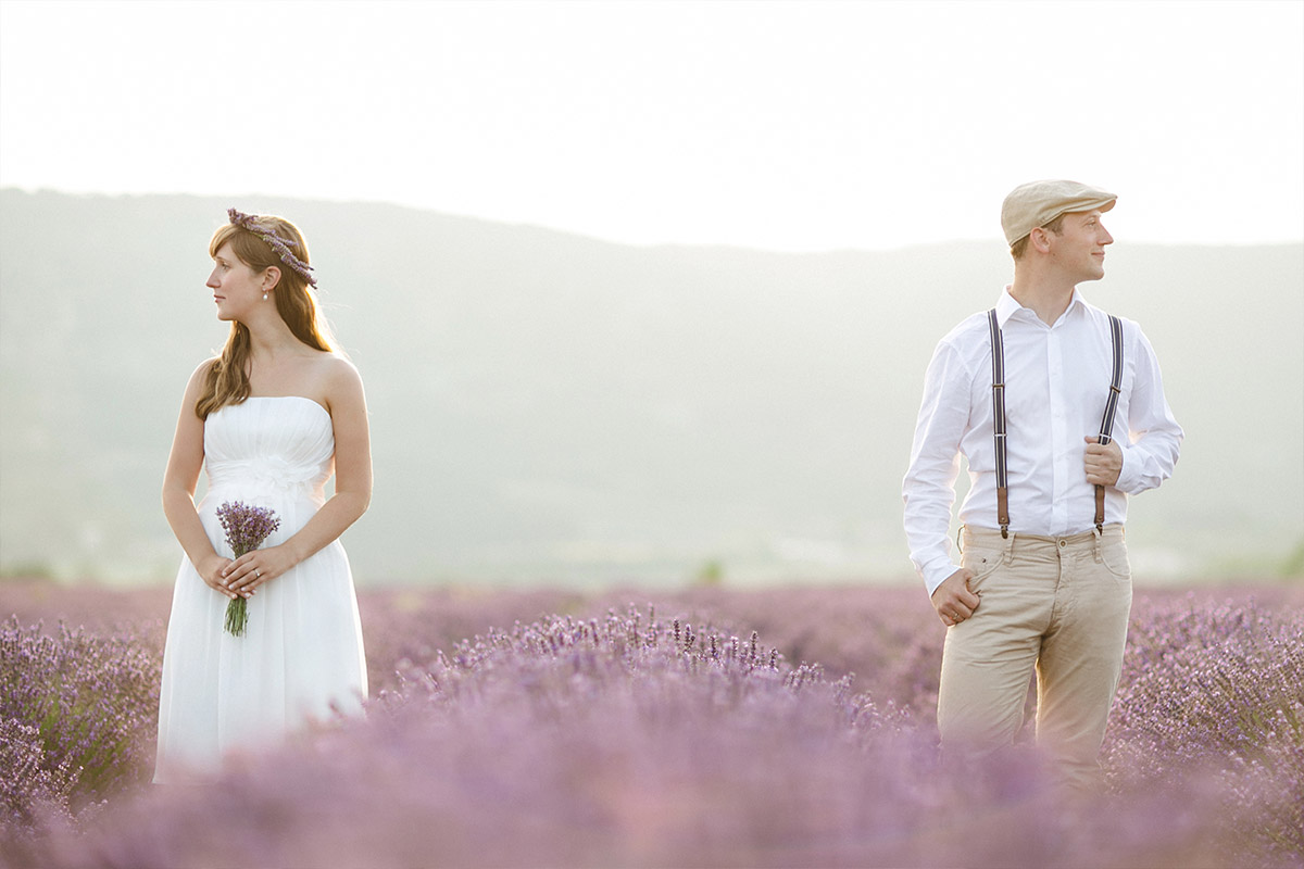 Professionelle Paarfotografie aufgenommen in der Provence von ...