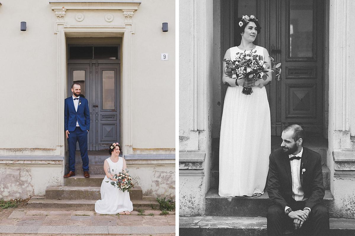 Brautpaarfotos bei Hipie-Hochzeit mit Vintage-Chic auf dem Land bei Berlin © Hochzeitsfotograf Berlin www.hochzeitslicht.de