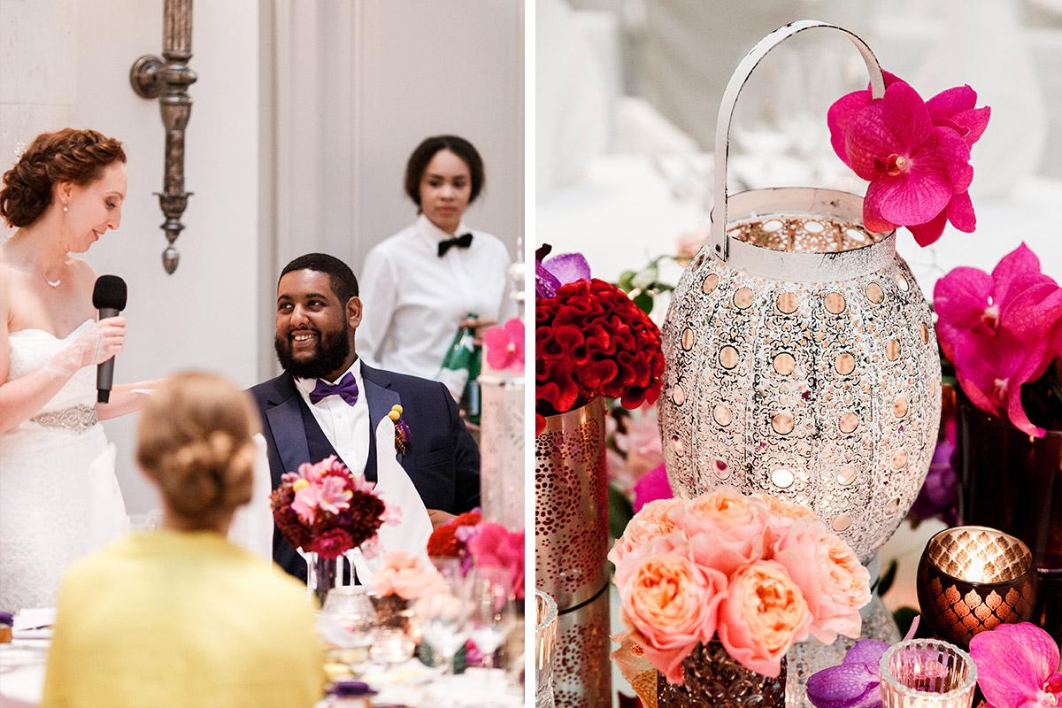 Hochzeitsfotos von Hochzeitsfeier am Abend - Hotel de Rome Berlin Hochzeitsfotograf © www.hochzeitslicht.de