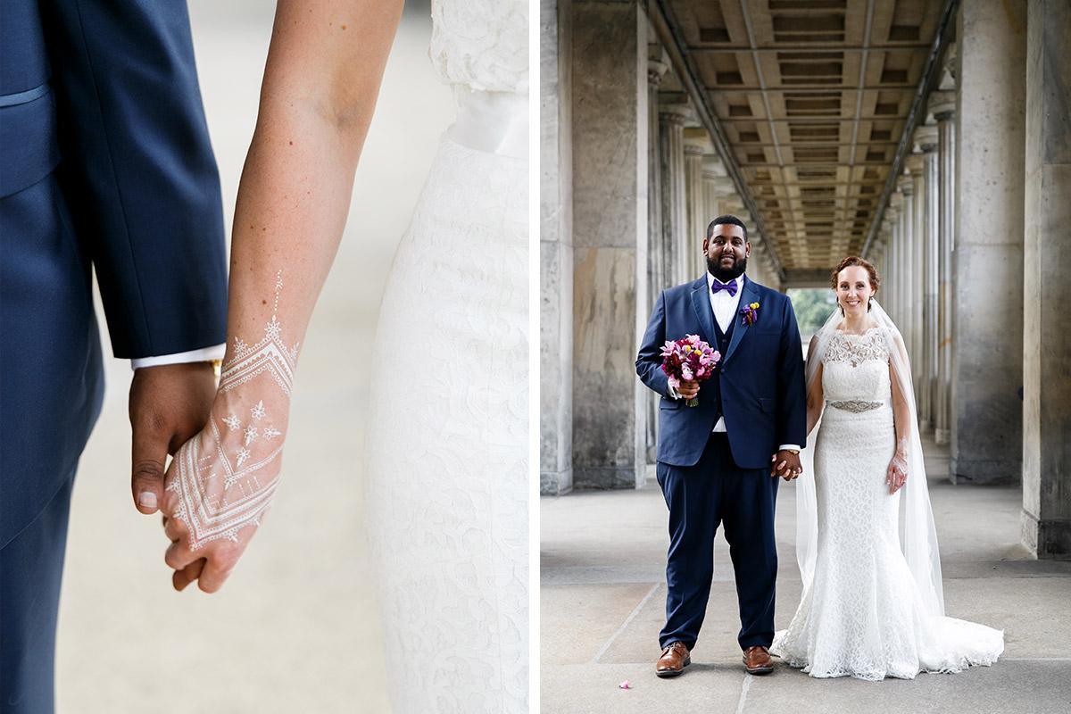 Brautpaarfotos aufgenommen von Hochzeitsfotograf Berlin-Mitte - Hotel de Rome Berlin Hochzeitsfotograf © www.hochzeitslicht.de