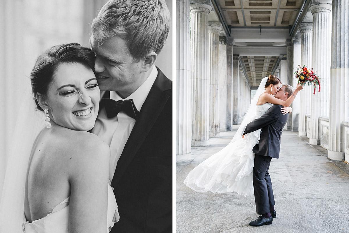 authentische Brautpaarfotos aufgenommen von professioneller Hochzeitsfotografin bei Berlin-Mitte-Hochzeit © Hochzeit Berlin www.hochzeitslicht.de
