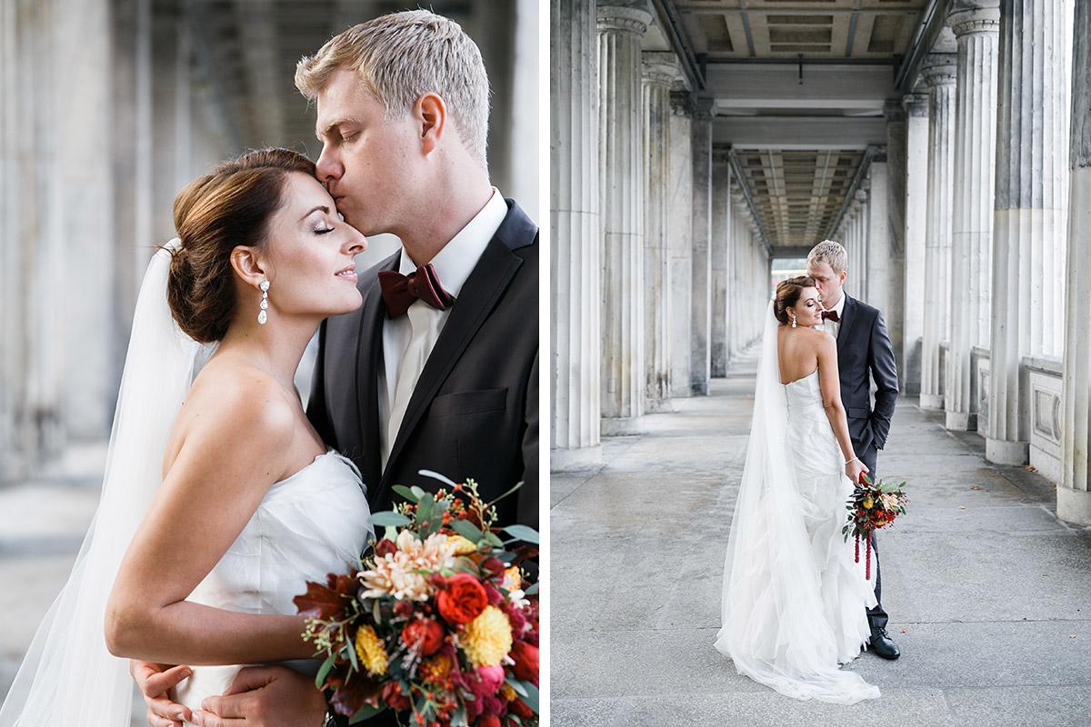 Hochzeitsfotos von Brautpaar bei Berlin-Mitte-Hochzeit © Hochzeit Berlin www.hochzeitslicht.de