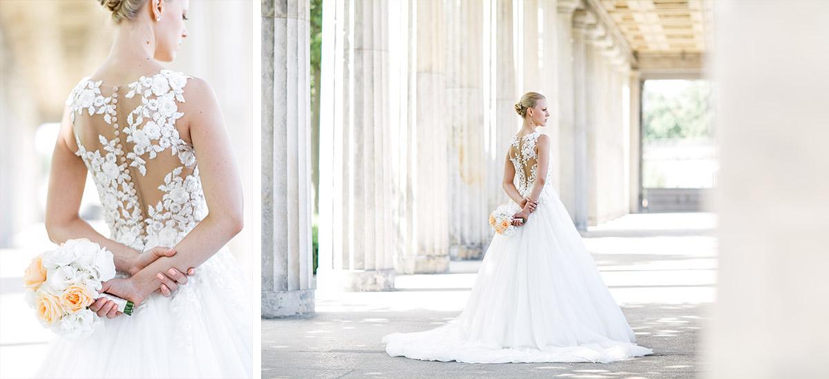 Hochzeitsfotos der Braut in Berlin-Mitte - Hotel de Rome Berlin Hochzeitsfotograf © www.hochzeitslicht.de