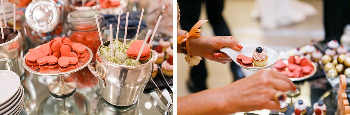 Hochzeitsreportagefotos von Candybar mit Cakepops und Herz-Macarons bei Hotel de Rome Hochzeit - Hotel de Rome Berlin Hochzeitsfotograf © www.hochzeitslicht.de