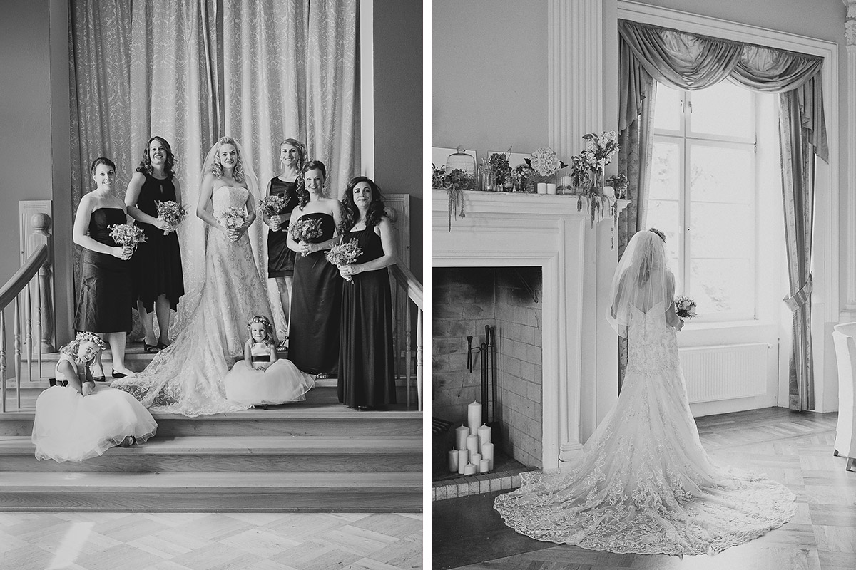 Hochzeitsfotos Von Braut Mit Ihren Brautjungfern Und Braut Von