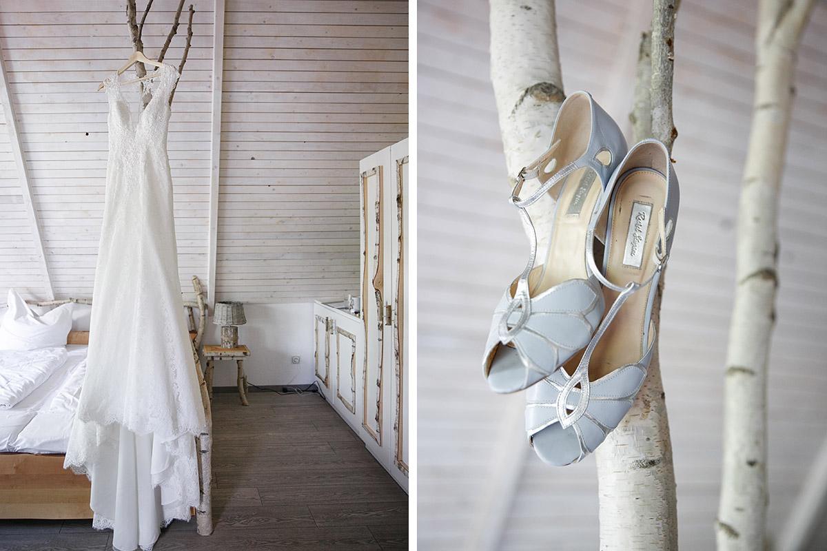 Hochzeitsreportagefotos von Lillian West Brautkleid und Rachel Simpson Brautschuhen - Seelodge Kremmen Hochzeitsfotograf © www.hochzeitslicht.de