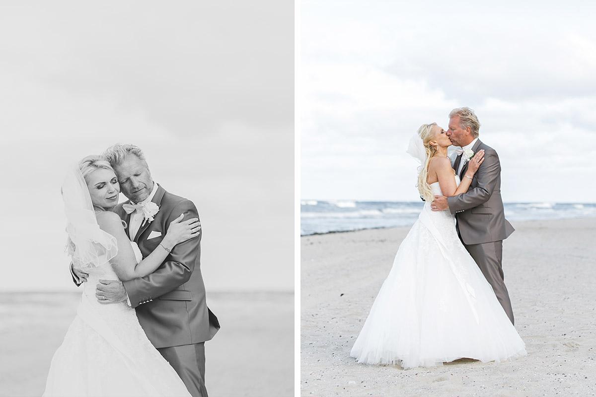 Brautpaarfotos bei Ostsee-Strand-Hochzeit - Ostsee Hochzeitsfotograf © www.hochzeitslicht.de