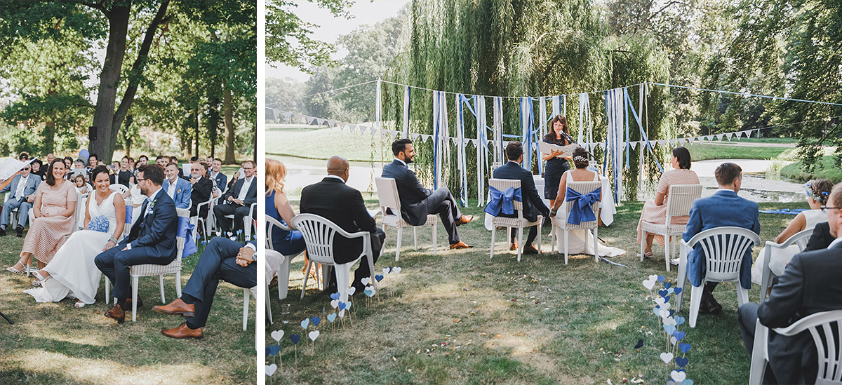 Hochzeitsfoto von Trauung bei Sommerhochzeit auf Schloss Neuhardenberg Brandenburg - Schloss Neuhardenberg Hochzeitsfotograf © www.hochzeitslicht.de