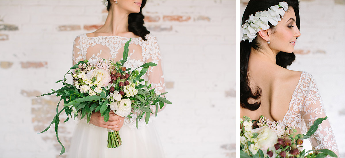 sinnliche Fotografien von Braut mit opulentem Brautstrauß - Editorial Shooting Liebesbrief zur Hochzeit Berlin © www.hochzeitslicht.de