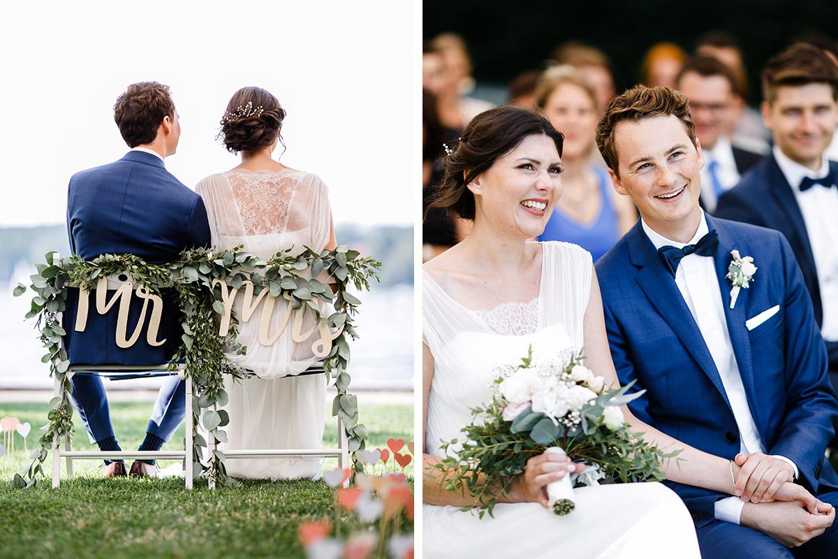 Hochzeitsfotos von freier Trauung am Ufer des Wannsee - Gästehaus Villa Blumenfisch am Großen Wannsee Berlin Hochzeitsfotograf © www.hochzeitslicht.de