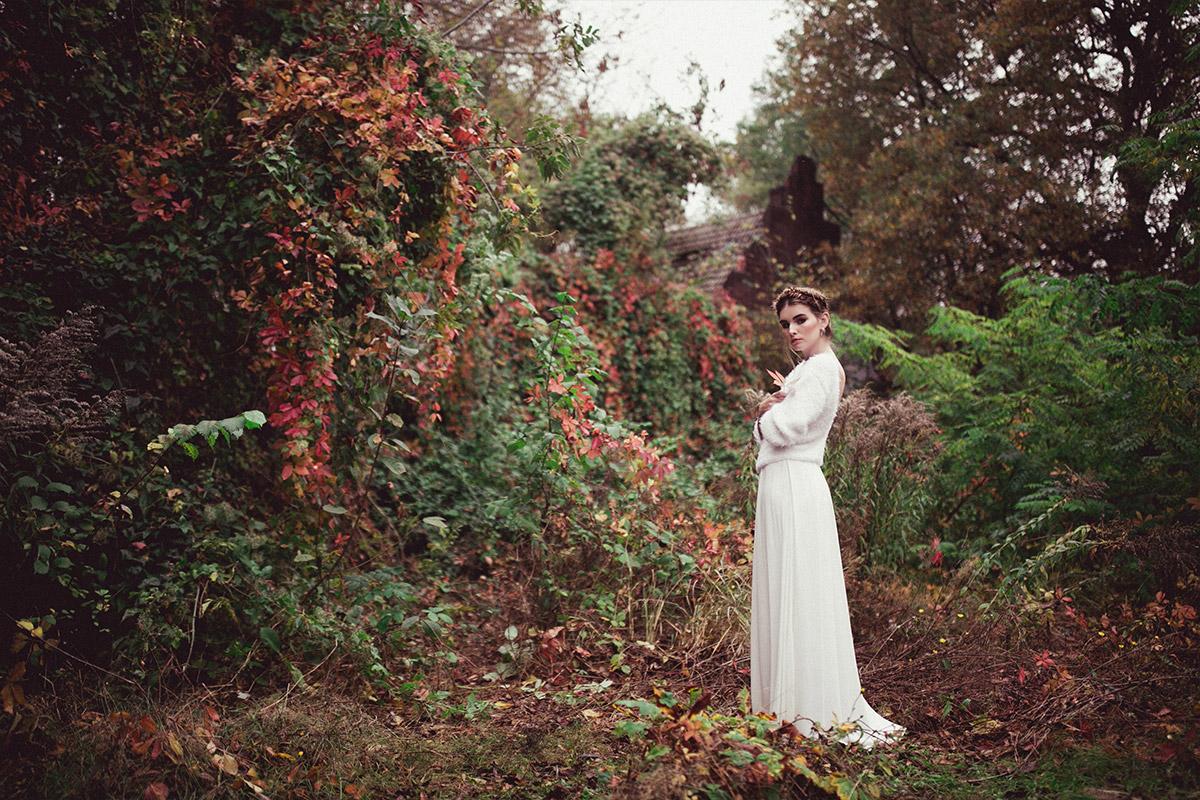 Editorial Brautmoden Fotoshoot - Herbst Hochzeit Berlin Hochzeitsfotograf © www.hochzeitslicht.de