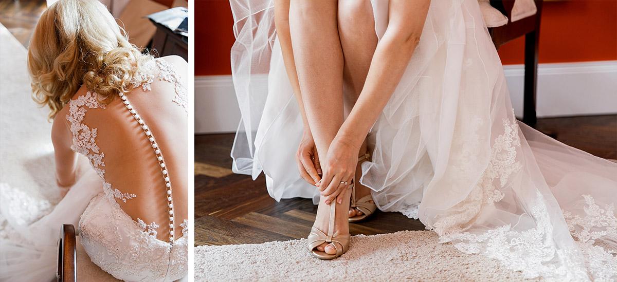 Hochzeitsfotografien vom Ankleiden der Braut - Schloss Ziethen Kremmen Hochzeitsfotograf © www.hochzeitslicht.de