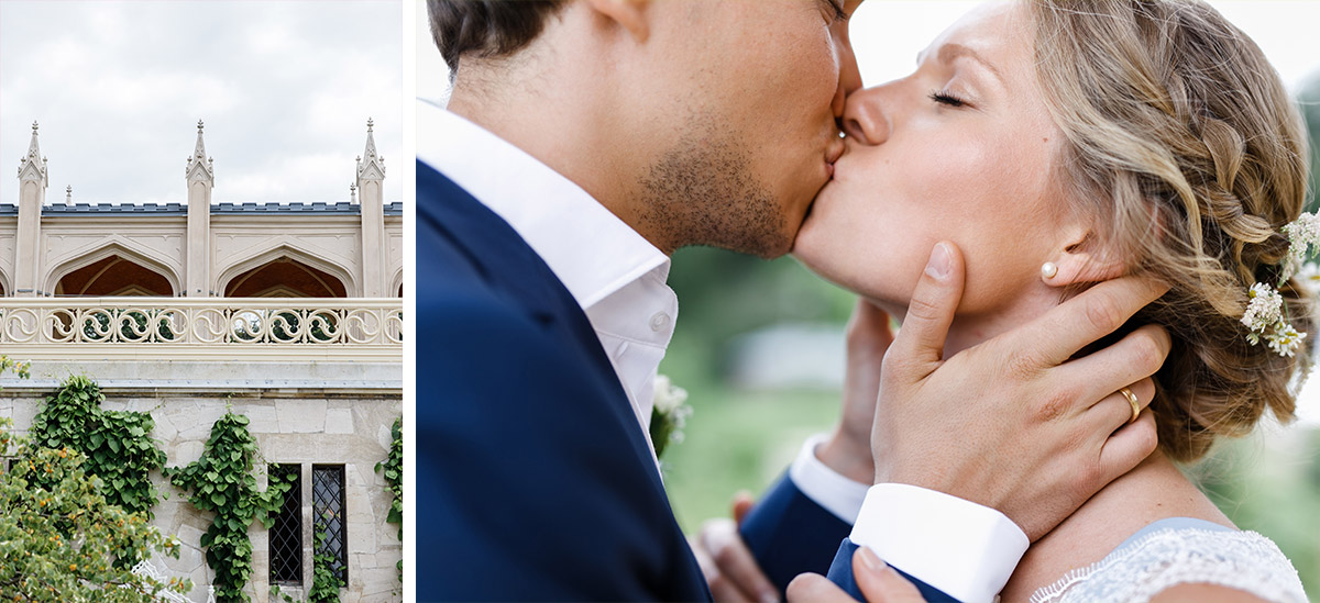 Hochzeitsfotos von Brautpaar auf Schloss Babelsberg Potsdam - Standesamt Rathaus Schmargendorf Berlin Hochzeitsfotograf © www.hochzeitslicht.de