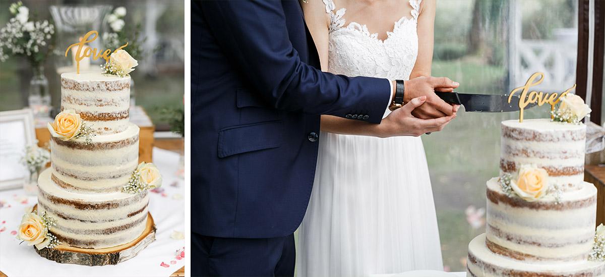 Hochzeitsfotos vom Anschneiden der Hochzeitstorte - Seelodge Kremmen Hochzeitsfotograf © www.hochzeitslicht.de