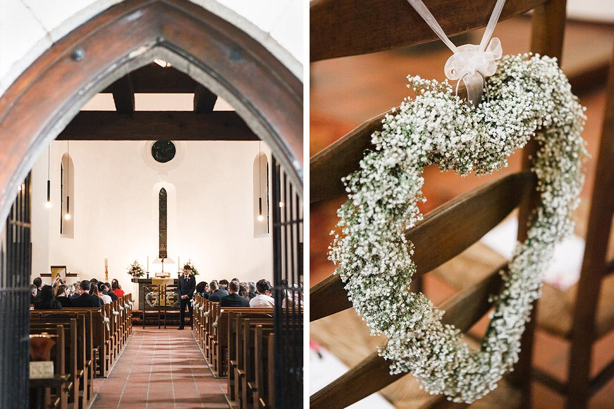 kirchliche Trauung in Alter Dorfkirsche Tempelhof - Berlin Hochzeitsfotograf © www.hochzeitslicht.de