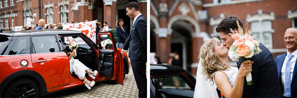 Hochzeitsreportagefotos vom Eintreffen der Braut - Berlin Friedrichshain Hochzeitsfotograf © www.hochzeitslicht.de