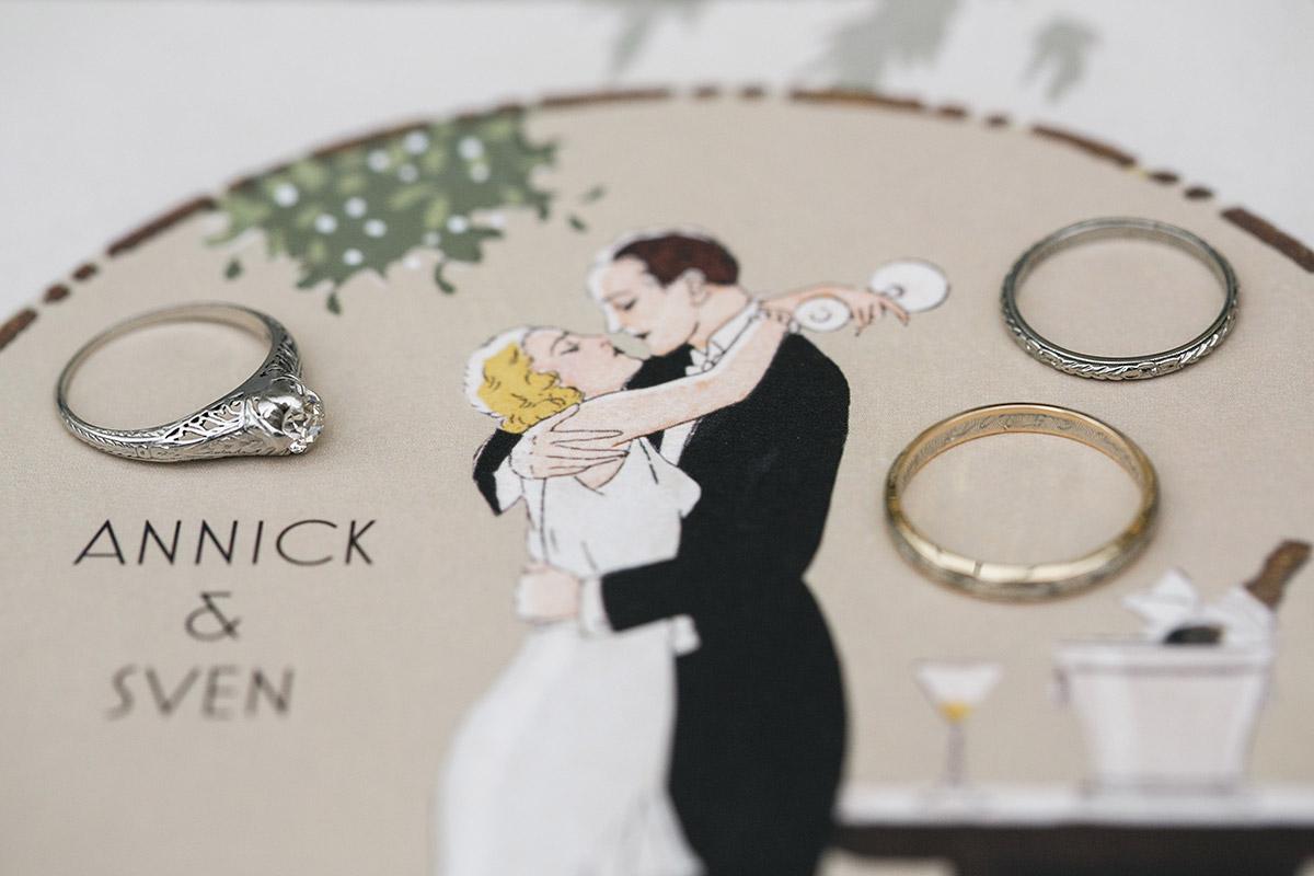 Hochzeitsfotos Ringe Art Deco Hochzeit - Schloss Kröchlendorff Hochzeitsfotograf © www.hochzeitslicht.de