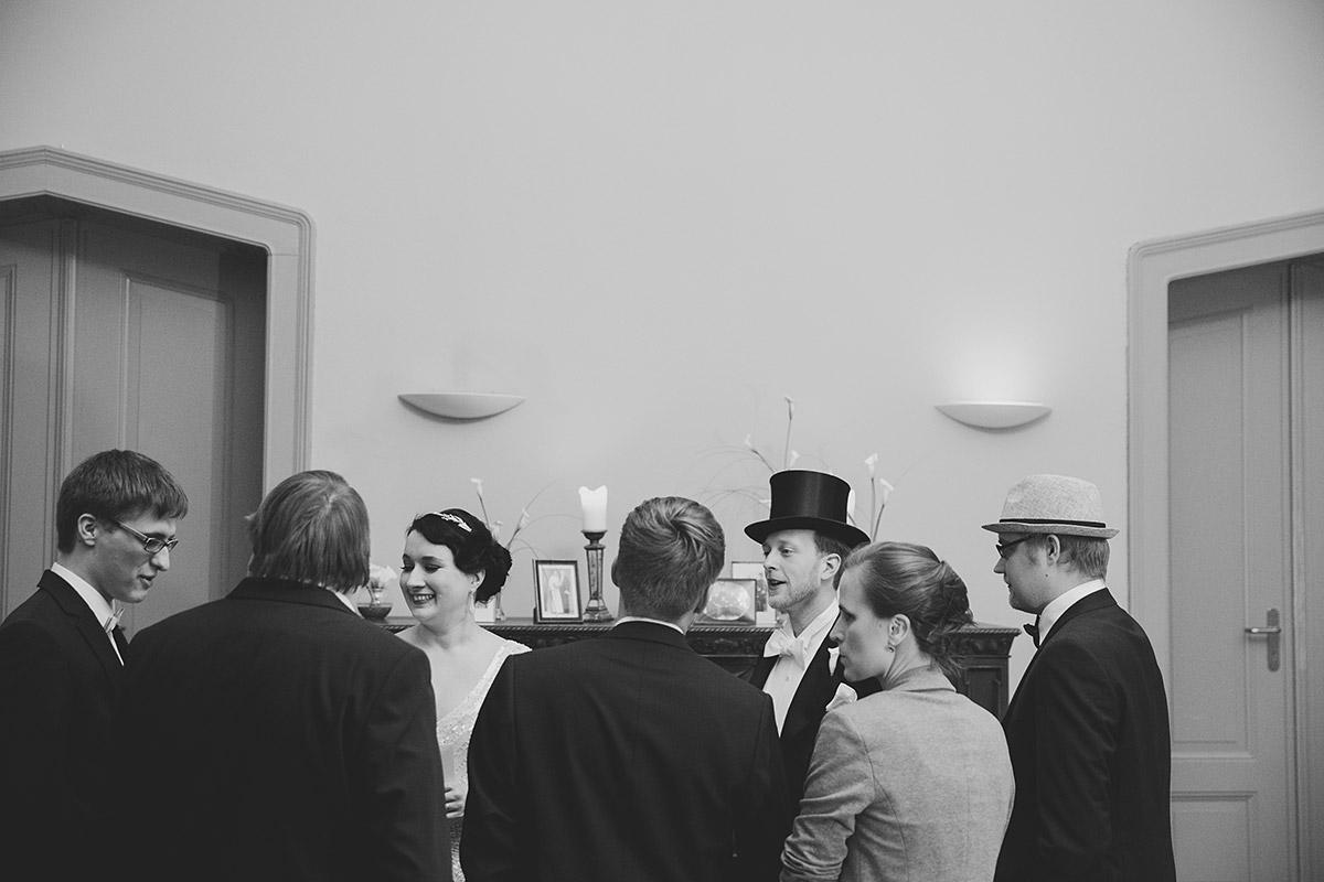 Hochzeitsfeier bei Vintage-Hochzeit - Schloss Kröchlendorff Hochzeitsfotograf © www.hochzeitslicht.de