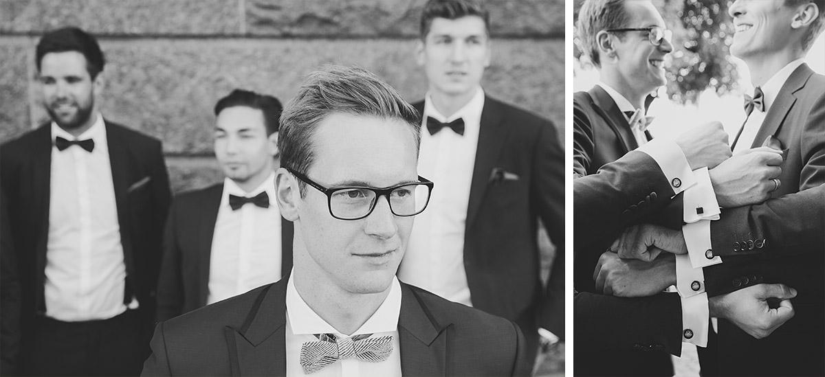 Bräutigam mit Best Men - Spreespeicher Hochzeitsfotograf © www.hochzeitslicht.de