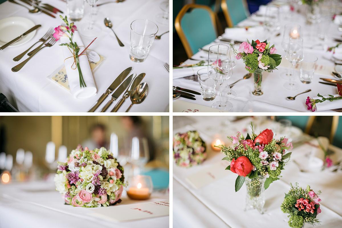 Detailfotos Tischdekoration - Ermelerhaus Hochzeitsfotograf © www.hochzeitslicht.de