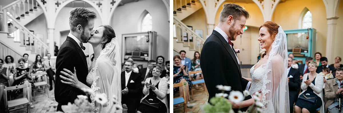 Ja-Wort in Alter Neuendorfer Kirche Potsdam - Ermelerhaus Hochzeitsfotograf © www.hochzeitslicht.de