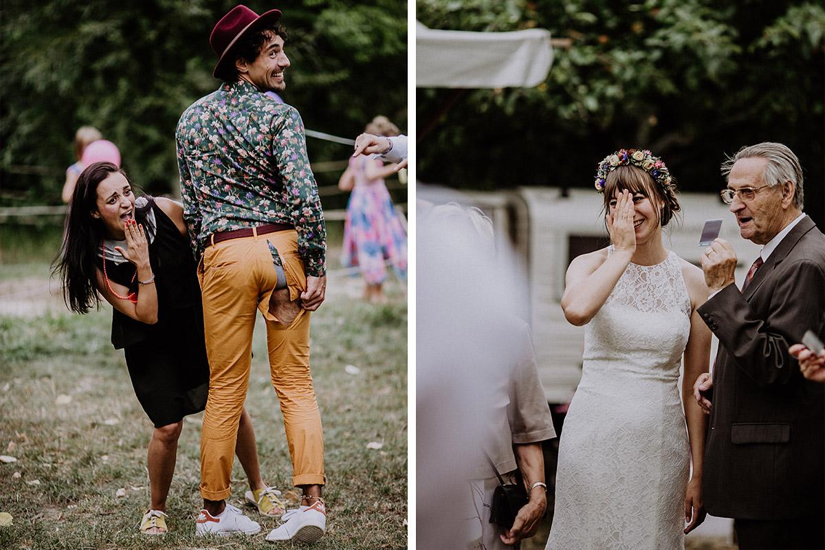 Hochzeitsfoto von lustigem Moment bei Hochzeitsfeier Berlin Zehlendorf - Hochzeitsvilla Zehlendorf Berlin Hochzeitsfotograf © www.hochzeitslicht.de