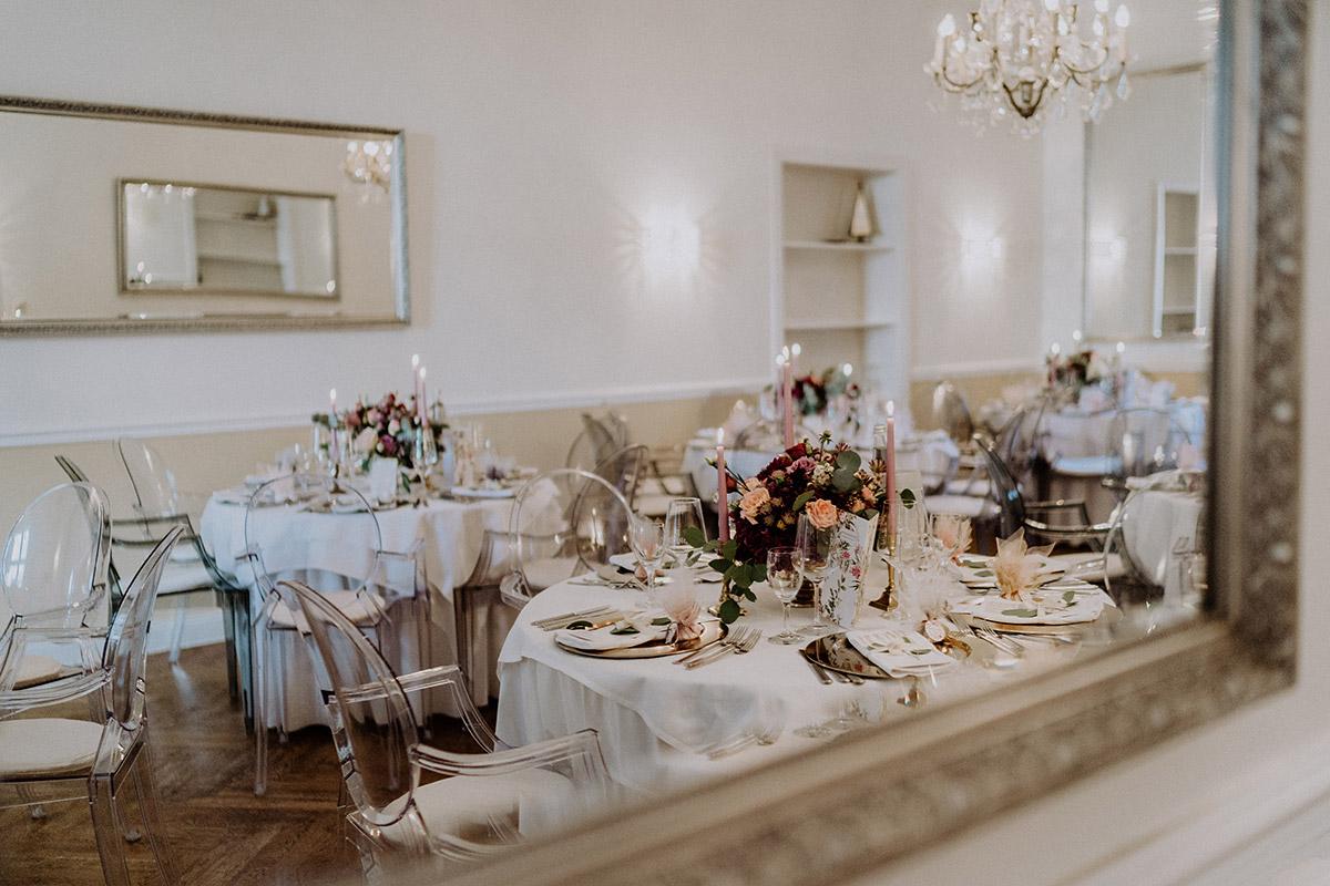 Hochzeitsfeier klassisch-elegante Hochzeit - Gut Schloss Golm Potsdam Hochzeitsfotograf © www.hochzeitslicht.de