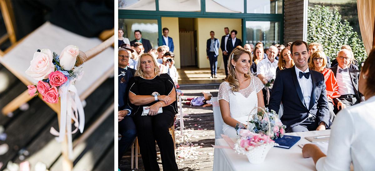 standesamtliche Trauung Seehaus - Schloss Liebenberg Hochzeitsfotograf © www.hochzeitslicht.de