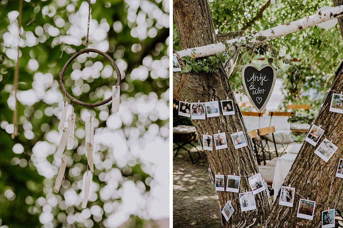 Hochzeitsfotos Traumfänger Hochzeit und Polaroid Dekoration Hochzeit - Vierseithofcafé Brandenburg Hochzeitsfotograf © www.hochzeitslicht.de