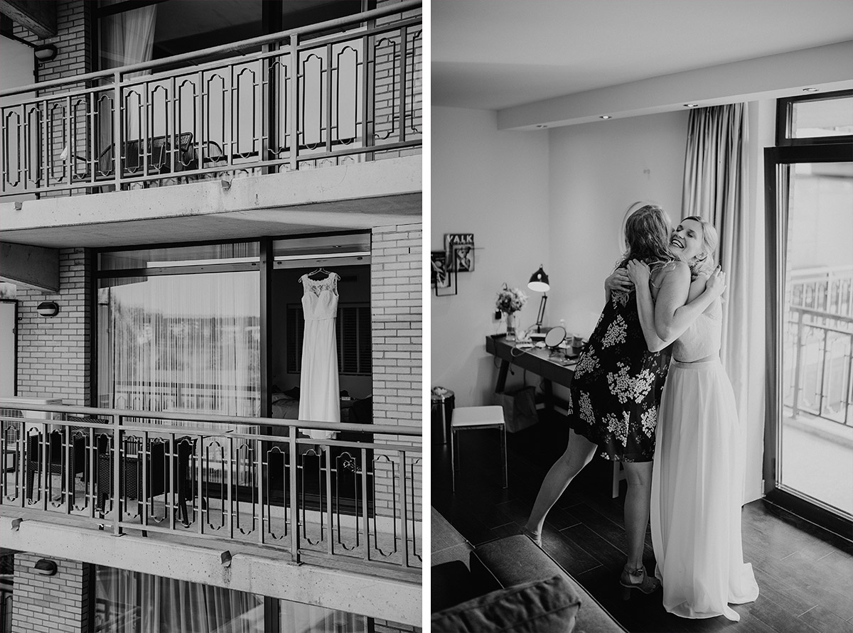 Getting Ready Braut im Van der Valk Hotel Berlin Brandenburg - Vierseithofcafé Brandenburg Hochzeitsfotograf © www.hochzeitslicht.de