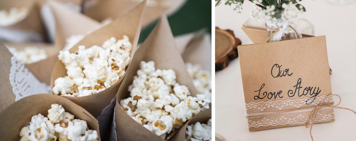 Popcorn Bar Hochzeit - Villa Blumenfisch Hochzeitsfotograf © www.hochzeitslicht.de