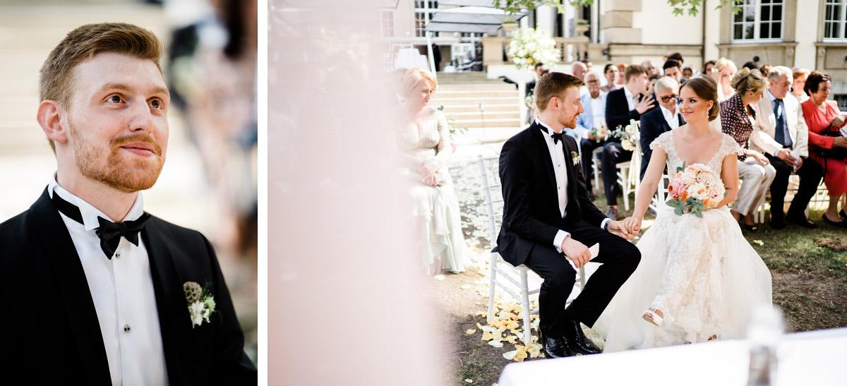 ungestellte Hochzeitsfotografien bei freier Trauung - Schlosshotel Berlin Hochzeitsfotograf © www.hochzeitslicht.de