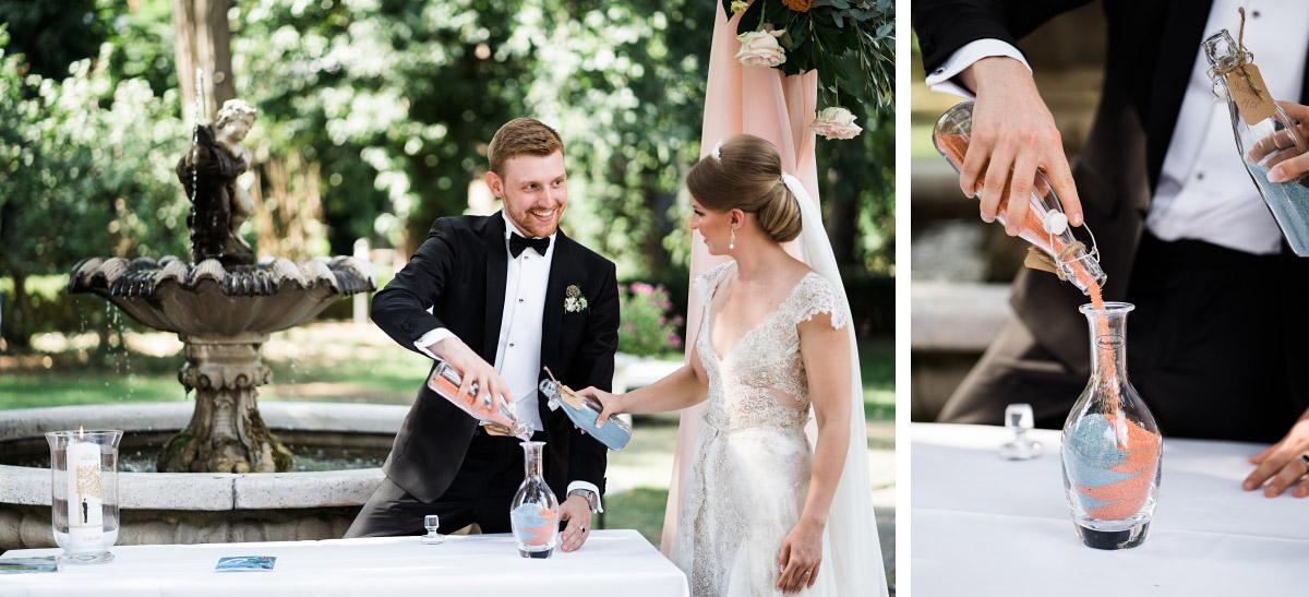 Sandzeremonie freie Trauung - Schlosshotel Berlin Hochzeitsfotograf © www.hochzeitslicht.de