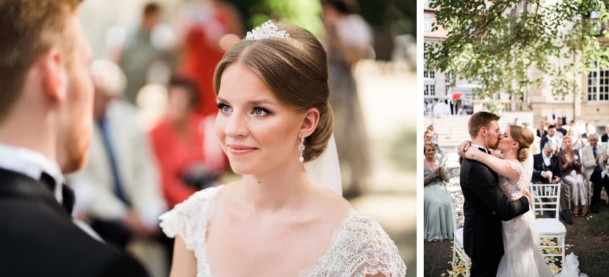 Hochzeitsfotos Ja-Wort freie Trauung - Schlosshotel Berlin Hochzeitsfotograf © www.hochzeitslicht.de