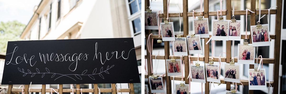 Fotowand Polaroid Hochzeit - Schlosshotel Berlin Hochzeitsfotograf © www.hochzeitslicht.de