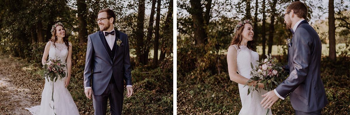 Hochzeitsfotos First Look - Spreewaldresort Seinerzeit Hochzeitsfotograf © www.hochzeitslicht.de