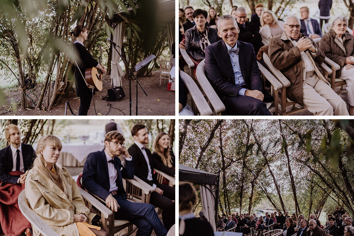 Hochzeitsreportagefotos Gäste Trauung Weidendom - Spreewaldresort Seinerzeit Hochzeitsfotograf © www.hochzeitslicht.de