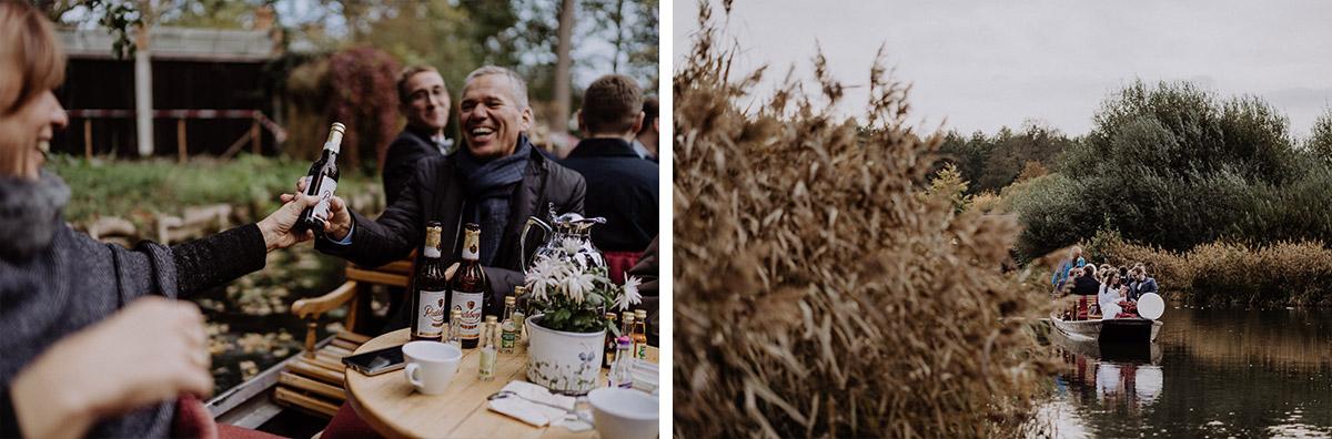 Kahnfahrt Hochzeit Spreewald - Spreewaldresort Seinerzeit Hochzeitsfotograf © www.hochzeitslicht.de