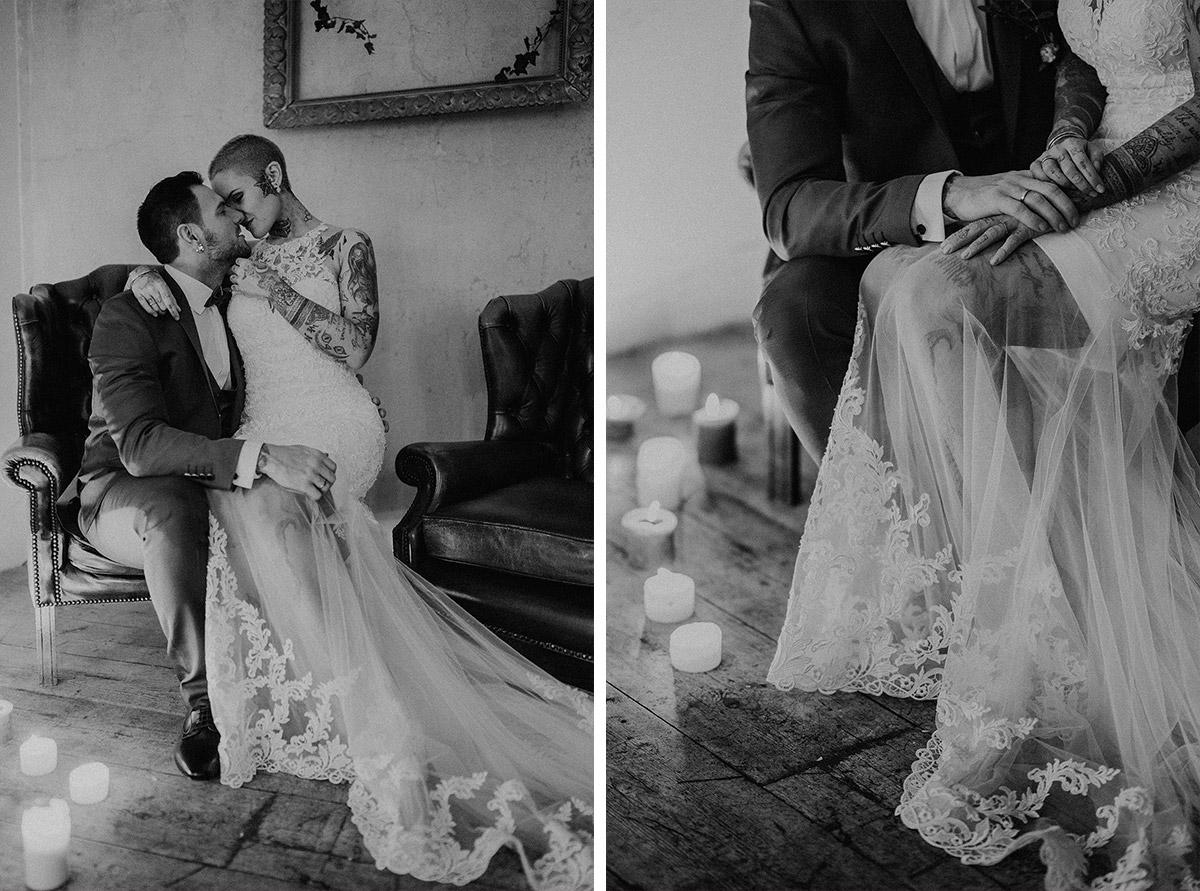 intimes Brautpaarfotoshooting - The Grand Berlin Hochzeitsfotograf © www.hochzeitslicht.de