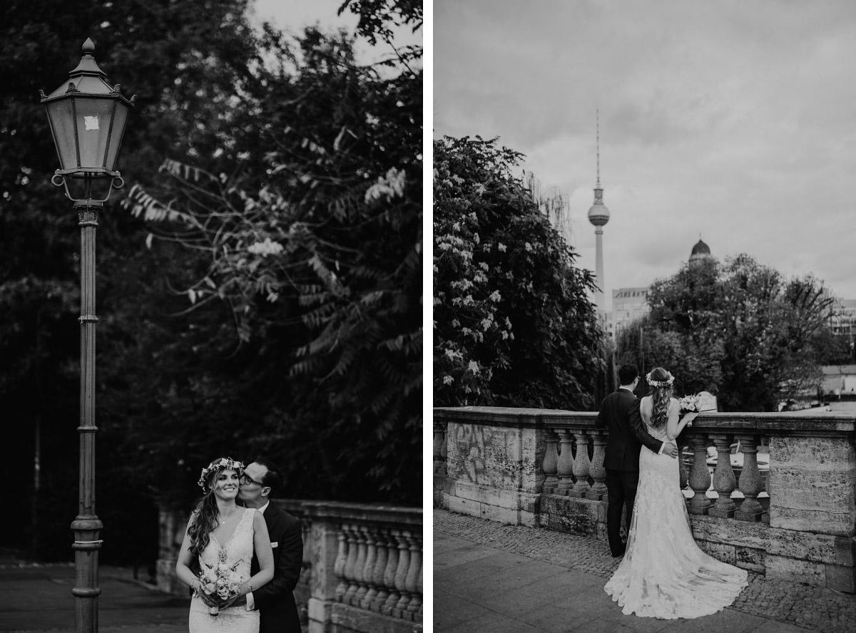 urbane Hochzeitsfotos Brautpaar Berlin-Hochzeit - Spreespeicher Berlin Friedrichshain Hochzeitsfotograf © www.hochzeitslicht.de