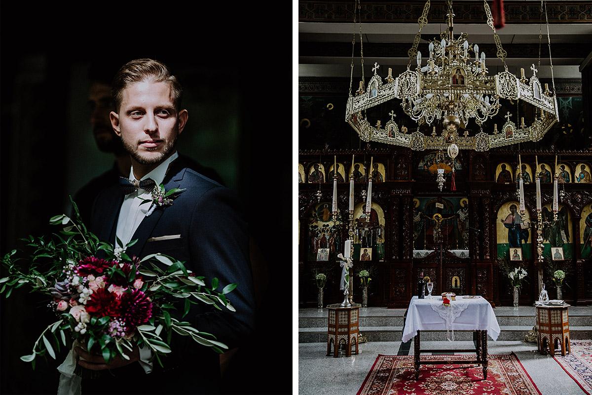 Trauung griechisch-orthodoxe Kirche Steglitz - Von Greifswald Berlin Hochzeitsfotograf © www.hochzeitslicht.de