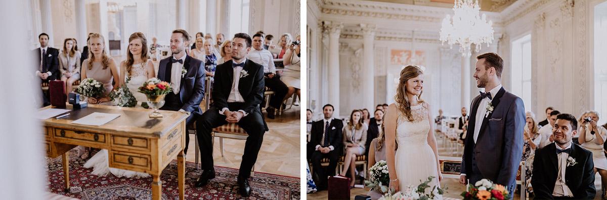 Hochzeitsfotos Ja-Wort Trauung - Schloss Friedrichsfelde Hochzeitsfotograf © www.hochzeitslicht.de