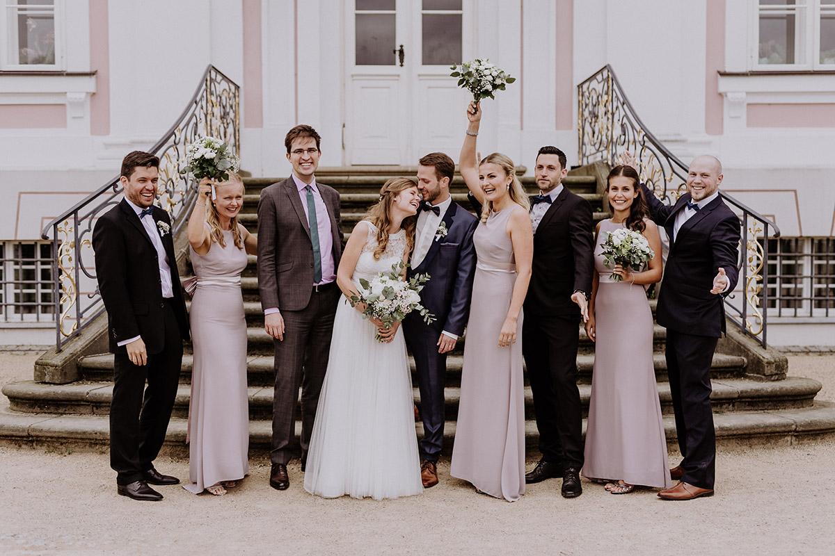 Gruppenfoto Hochzeit - Schloss Friedrichsfelde Hochzeitsfotograf © www.hochzeitslicht.de
