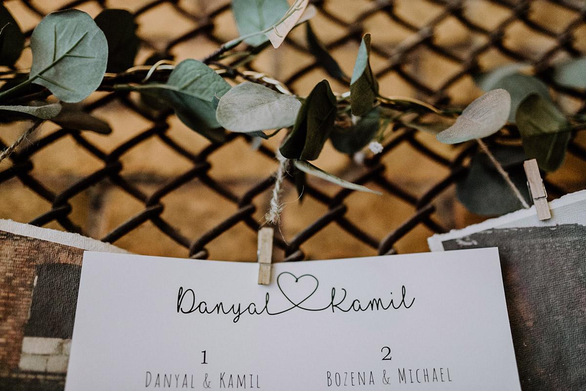 Detailfoto Hochzeit Papeterie Handlettering - Old Smithy's Dizzle Alte Schmiede Berlin Hochzeitsfotograf © www.hochzeitslicht.de