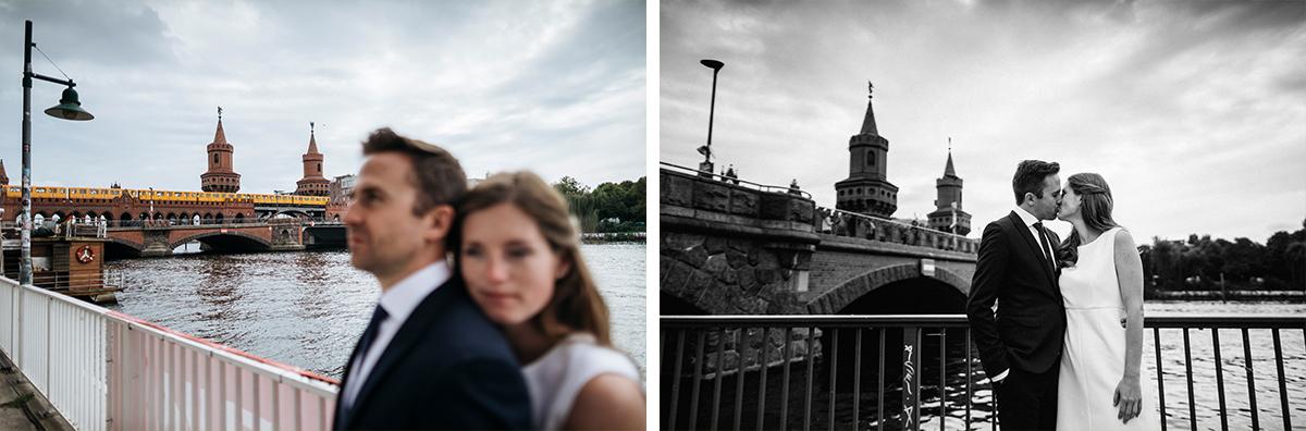 urbane Hochzeitsfotos Oberbaumbrücke - Friedrichshain und Stone Brewing Berlin Hochzeitsfotograf © www.hochzeitslicht.de