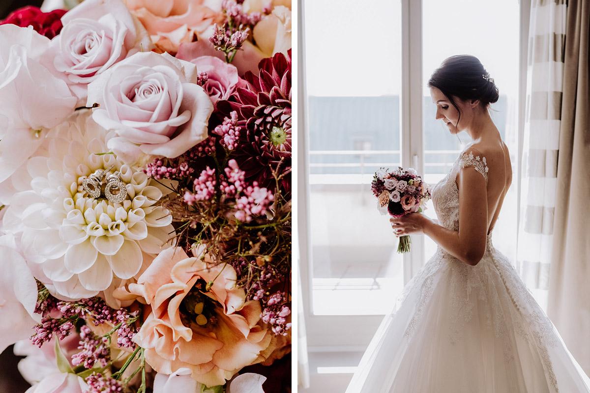 Inspiration Hochzeitsblumen Trauung Kirche - Hochzeit im Hotel de Rome von Hochzeitsfotograf Berlin © www.hochzeitslicht.de #hochzeitslicht