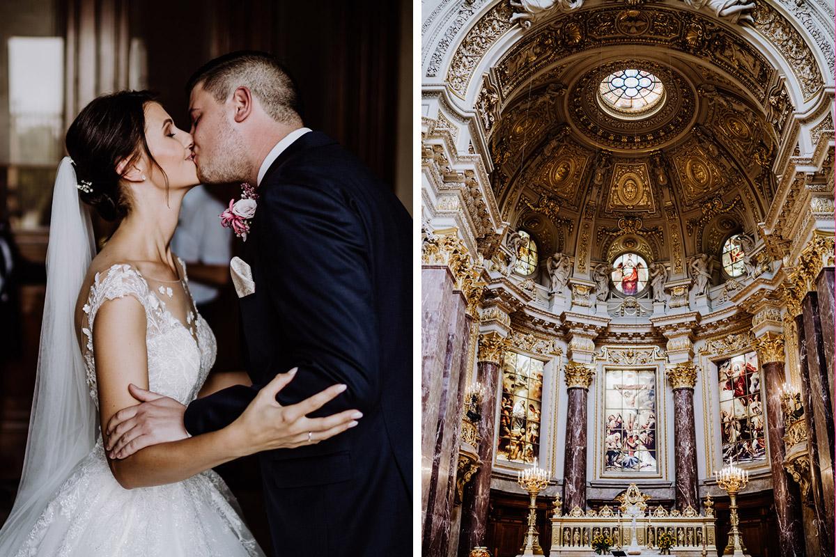 Hochzeitsfoto First Look Hochzeit Berliner Dom - Hochzeit im Hotel de Rome von Hochzeitsfotograf Berlin © www.hochzeitslicht.de #hochzeitslicht