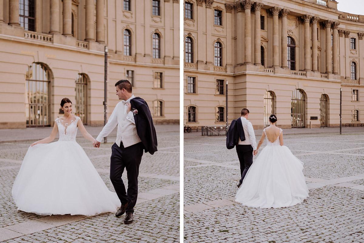 Brautpaarshooting Ideen Brautkleid Prinzessin Berlin Mitte Hochzeit - Hochzeit im Hotel de Rome von Hochzeitsfotograf Berlin © www.hochzeitslicht.de #hochzeitslicht